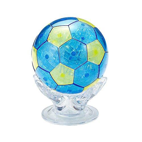 ATIDY 3D Rompecabezas de Cristal 77 Piezas Rompecabezas 3D Juguetes educativos Juguetes de los Cabritos - fútbol
