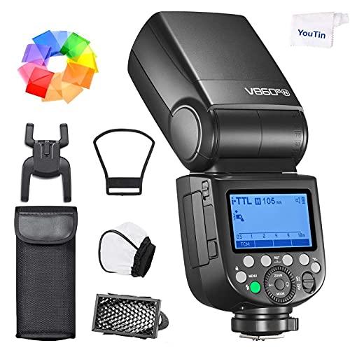 Godox V860III-N TTL - Flash para cámara (batería de ion de litio, 1/8000s, 2,4 G, GN60, HSS, Speedlite, compatible con Nikon D800, D700, D7100, D7000, D3400, D3200, D5300, D5600, D75750)