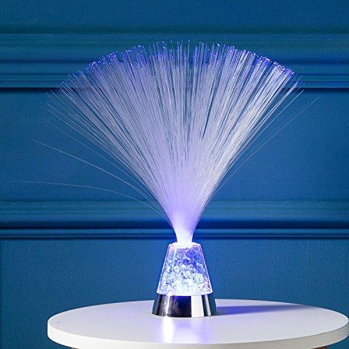 Lights4fun Lámpara a Pilas con Fibras Ópticas Cambiacolor