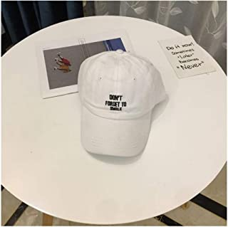 Hats Female Outdoor Retro Cap Water Washed Cotton Denim Soft Top Baseball Cap Fashion (Color : White, Size : F)
