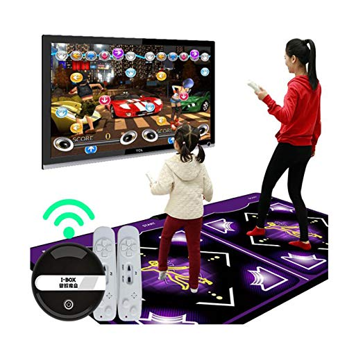 Homstar Double User Dance Mats,Adults Kid Non-Slip Musical Play Mat Light Dancing Step with Remote Control,Dance Revolution Pads Sense Carpet for TV and PC Built in Music Exercise Yoga Games