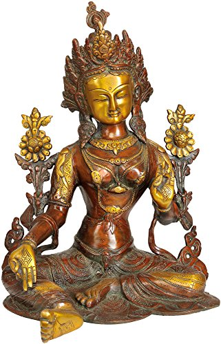 Exotic India Grün Tara – Messing Statue