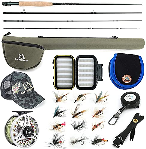 MAXIMUMCATCH Maxcatch Extreme Fly Fishing Combo Kit 3/4/5/6/7/8 weight Fly...