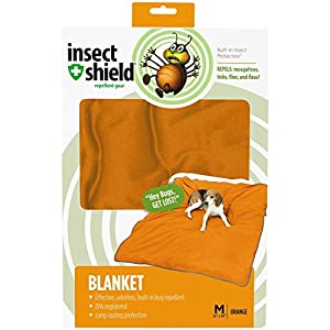 Insect Shield Insect Repellant Dog Blanket for Protecting Dogs from Fleas, Ticks, Mosquitoes & More