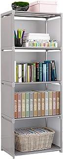 XXLlqRacks Gris Librería y Armario DIY 4 Cubos Estantería Modular Multiusos Armario Abierto para Libros Juguetes Ropa...