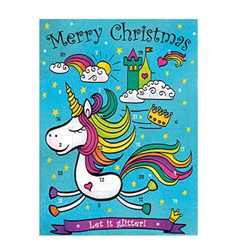 Adventskalender Einhorn 75 g Schokolade Weihnachtskalender Kinder Weihnachten