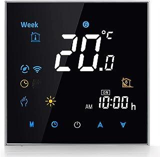 Termostato Smart Wifi Compatible con Alexa Google Home - Termostato inteligente Inalámbricos Programable para Caldera de G...