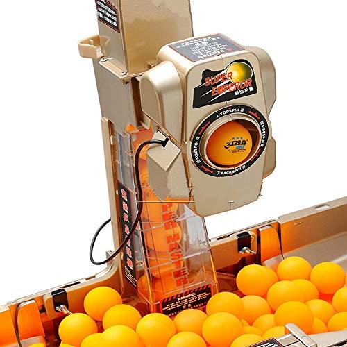Ping-Pong-Roboter-Maschine mit mit 36 verschiedenen Spin Ball Automatische Kugelrastung Net Tischtennis Trainer & Wireless Remote Top Version Ping-Pong Üben Training Exercise