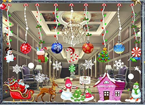 Jul fönster klistermärken, snöflingor dekaler klistermärke, fönster visa dekoration jul, fönsterklistermärken, jul fönster dekorationer klistermärken, jul snöflinga vinyl gör-det-själv väggklistermärken (JC-803)