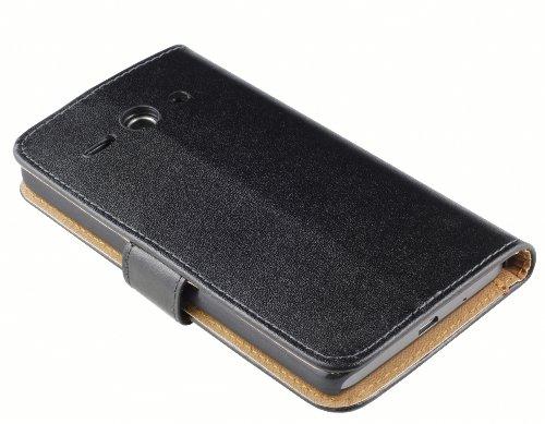 mumbi Tasche Bookstyle Case kompatibel mit Huawei Ascend Y530 Hülle Handytasche Case Wallet, schwarz - 6