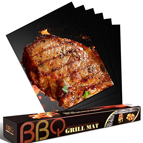 Freshmage Grill Mat - Set of 6 Oven Liners for...