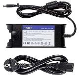 FSKE® 90W 19.5V 4.62A Cargador del Ordenador Portátil para DELL LA65NS0-00 PA-12 Power Supply, XPS 13 Inspiron 15 13 17 Latitude E5440 E7240 Notebook EUR Adaptador,7.4 * 5.0mm