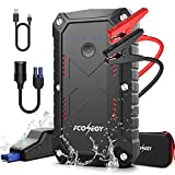 Car Jump Starter, FCONEGY 2200A Peak 25800mAh Portable Battery Starter for Car with Smart Safety Jumper Clamps Portable Power 12V Car Booster(up to 8.0L Gas & 7.0L Diesel car) Dual USB Quick Charge