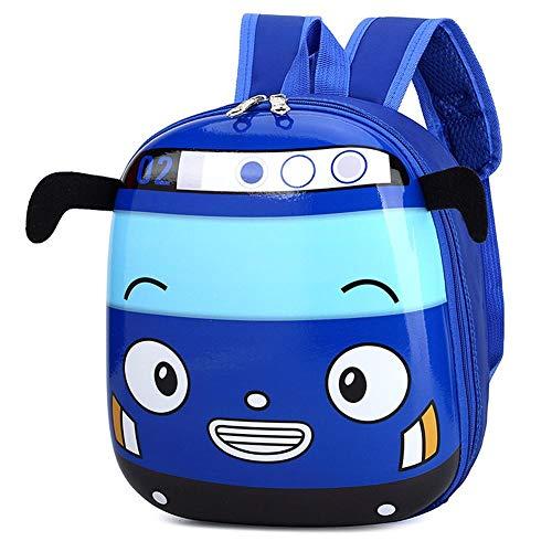 Mochila escolar de kindergarten de autobús de dibujos animados en 3D Mochila...