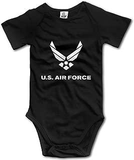 US Air Force Short Sleeve Baby Onesie Rompers Bodysuit for Infant