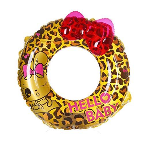 HYM Leopard Swim Ringgefahr Riesenschwimbad Schwimmbecken Pool Spielzeug für Erwachsene und Kinder Pool Luftmatress-Flotation Reifen für Pool Party Beach,XS