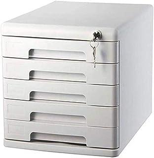 LIUYULONG Armoire de rangement de fichiers à 5 tiroirs - Armoire de rangement de données - Armoire de bureau en plastique...