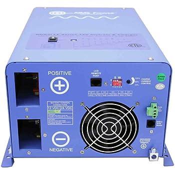 AIMS Power 2000 Watt / 6000 Watt Surge 12V Pure Sine Inverter Charger ETL Certified to UL 458