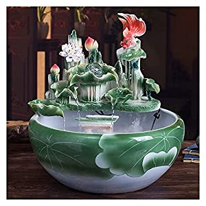 Decorazione da tavolo Fontana da tavolo in ceramica fontana in ceramica fontana rustica Zen da tavolo da tavolo da tavolo in ceramica a cascata fontana in ceramica fontana in ceramica fontana per la s