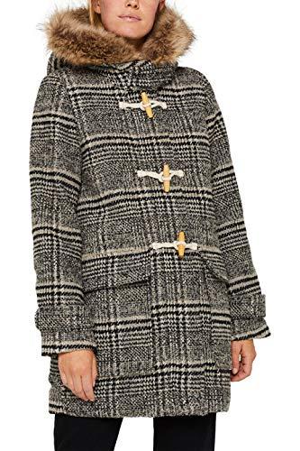 ESPRIT Damen 099Ee1G006 Mantel, Grau (Dark Grey 020), Large (Herstellergröße: L)