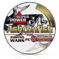 Ashconfish PE 釣りライン 超強力 耐磨耗 低伸度 150m イエロー