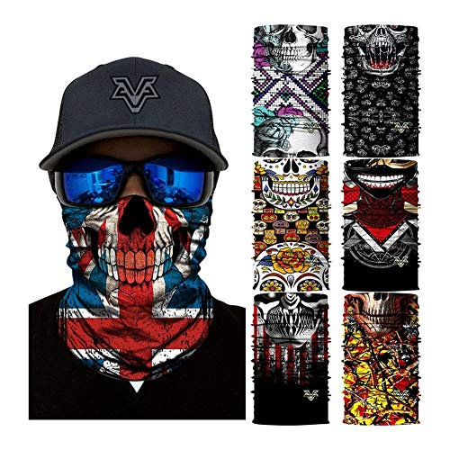 NINGWXQ Neck Gaiter for Mannen 3D UV-beschermingsmasker Zonnescherm, Stofdicht, Sport Face Tube Mask Wicking Hoofdbanden Sportsjaal Tube,Vissen, Fietsen, Carnaval Festival