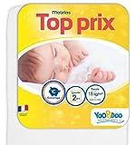 Yoopidoo  - Matelas Bébé - 70x140 cm - Confortable - Sans Traitement chimique -...