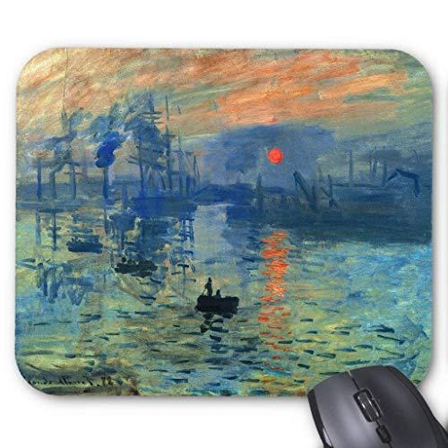 Accesorios de ordenador anti-fricción pulsera Impression Sunrise, Soleil Levant, Claude Monet Mouse Pad 18X22