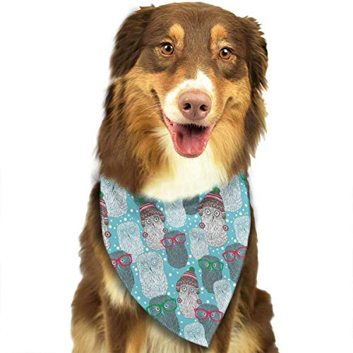 Haustier Schal Hipster Polar Owls Pattern Pet Dog Bandana Triangle Bibs Scarf - Easy to Tie On Your Dogs & Cats Pets - Comfortable and Stylish Pet Accessories