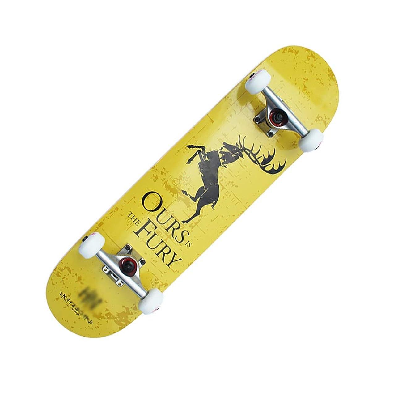 セールライオン服を着るLIUFS-スケートボード ティーンエイジャーの初心者向け31.5インチスケートボード仕上げ利点調整ツールを含むダブルロッカー凹面クルーズスキル - 鹿