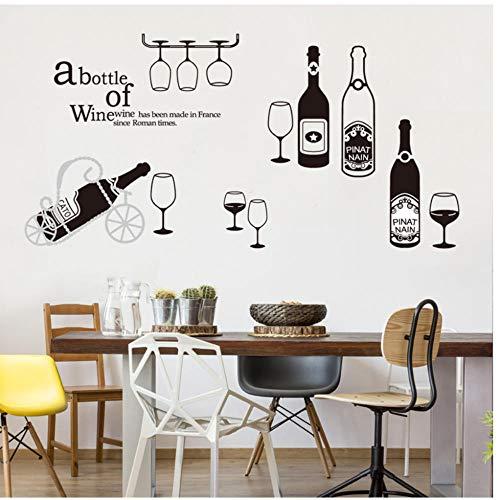 Annqing Glazen fles, wanddecoratie, decoratie voor thuis, wijn, rood, wandstickers, keuken, wandstickers, tv, sofa, decoratie, wandafbeelding, gordijn