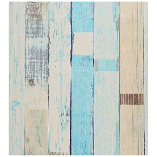 sknonr Lake Blue Backstein Muster Tapete, Selbstklebende Wandaufkleber für Schlafsaal Cafe Wohnzimmer, Wall Desktop Tapete, 1000x45cm