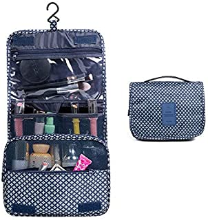 Toiletry Bag,TERSELY Portable Hanging Travel Makeup Organizer Folding Pouch Toiletry Cosmetic Bag with Hanging Hook And St...