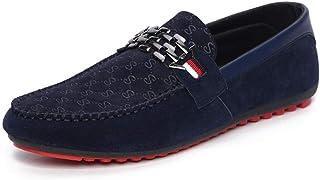 Mocasines Hombres Zapatos de Vestir Cuero Zapatos de Conducción Moda Deporte Zapatos Casuales Mocasines cómodos y Transpir...