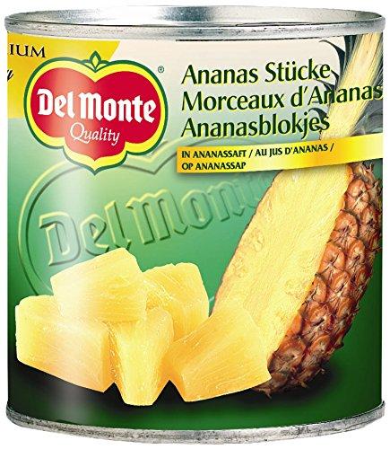 Del Monte Ananas Stücke in Saft, 6er Pack (6 x 435 g)
