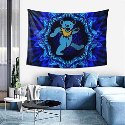 YUQIN Hip Hop Spiral Grate-ful Dead Dancing Bear Art Tapestry Wall Hanging Decor for Bedroom Dorm Living Room Home Blanket Picnic Mat