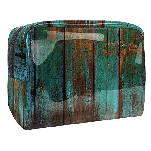 Trousse de toilette multifonction pour femme en bois rustique