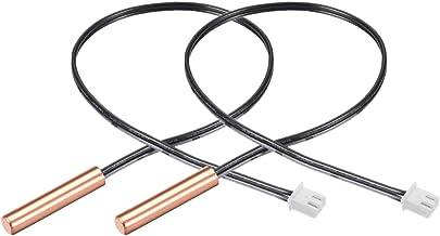 uxcell 2 Pcs 15K NTC Thermistor Probe 15.7 Inch Copper Sensitive Temperature Temp Sensor for Air Conditioner