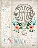 Posterazzi French Hot Air Balloon Poster Print by Jennifer Pugh, (11 x 14)