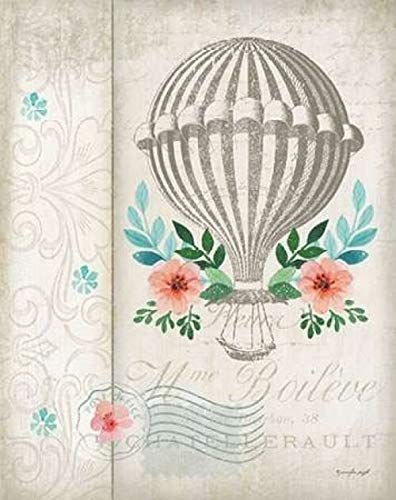 Posterazzi French Hot Air Balloon Poster Print by Jennifer Pugh, (11 x 14)