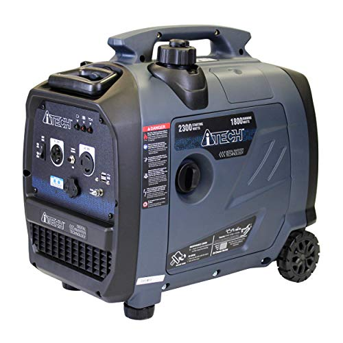 A-ITECH AT20-123001 2300 Watt Portable Inverter Generator Gas Powered Small with Super Quiet Operation for Home or Emergency, RV Ready
