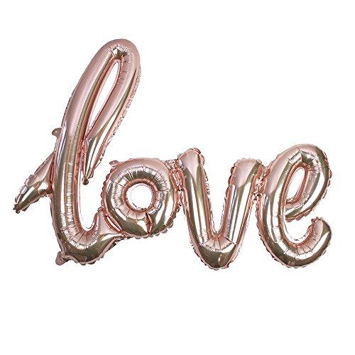 Talking Tables Truly Romantico Rose Gold Foil Love Balloon 73,7x 53,3cm, Confezione da 1, Multicolore