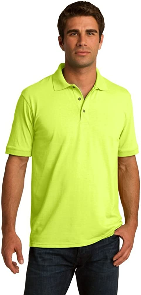 Port & Company Men's Comfortable Knit Collar Polo Jersey_Safety Green