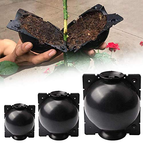 O'woda 3 Stück Pflanzen-Wurzelkugel, Hochdruck Pflanzenzüchtung (12cm,8cm,5cm), Gartenarbeit Anzuchtsets, Pflanzenzüchtungsball für Innen- und Außenpflanzen wie Rosen, Kletterpflanzen, Bäume