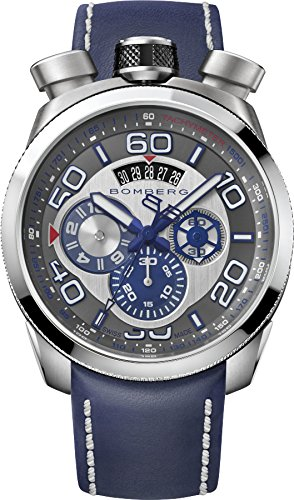 Bomberg Herren Chronograph Quarz Uhr mit Leder Armband BS45.007