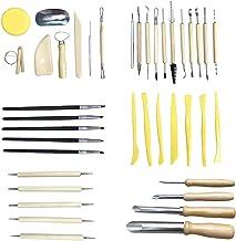 Kit de ferramentas de cerâmica para esculpir cerâmica, conjunto de ferramentas de modelagem da Vosarea com 40 peças