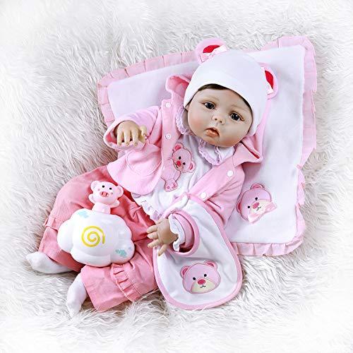 Terabithia 22 Pollici 56cm Carino Panda Realistico Silicone Vinile Corpo Intero Reborn Bambole per Bambini Lavabili per Una Ragazza Che sembrano Reali e Si sentono Reali
