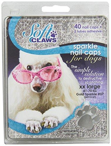 Soft Claws Inc Canine Doux à Ongles Griffes Capuchons, XXL, Doré