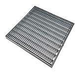 Grille galvanisée anti-talon, grille en acier galvanisé carrée et rectangulaire, toutes les dimensions.