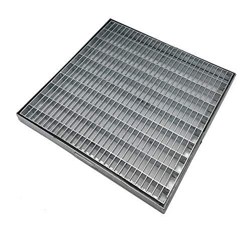 Rejilla galvanizada antitacón de desague para drenaje lineal, cuadradas y rectangulares de acero galvanizado, todos los tamaños (22,5x22,5 cm)